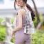 เสื้อผ้าเกาหลีพร้อมส่ง ชุดเซท เสื้อปล่อยชายลายผ้า สีสวย thumbnail 9