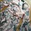 ชุดเดรสเกาหลี พร้อมส่งเดรสผ้าวิสโคสสีชมพูพิมพ์ลายธรรมชาติ thumbnail 8