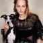 เสื้อผ้าแฟชั่นพร้อมส่ง เสื้อลูกไม้ตาข่ายพลีทลายจุดคอระบาย งานแบรนด์ Christain Dior thumbnail 1