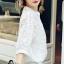 เสื้อผ้าแฟชั่น พร้อมส่งKorean Summer Time Lace Shirt thumbnail 8