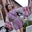 Issue Cassandra Colourful Printed Kimono Playsuit thumbnail 5