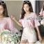 เสื้อผ้าเกาหลี พร้อมส่งเสื้อคอตตอนปักและฉลุลายสุดหวาน thumbnail 8