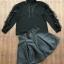 เสื้อผ้าแฟชั่นพร้อมส่ง เซ็ตเสื่อแขนยาวสีดำใส่คู่กับกระโปรงเอวสูงทรงบาน thumbnail 3