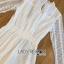 ชุดเดรสเกาหลี พร้อมส่งเดรสผ้าลูกไม้ทรงคอสูงสไตล์เฟมินีนสุดหรู thumbnail 16