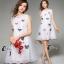 ชุดเดรสเกาหลี พร้อมส่ง3D Butterfly Luxury Dress thumbnail 4