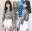 เสื้อผ้าเกาหลีพร้อมส่ง เสื้อผ้าลูกไม้ทอลายดอกไม้พร้อมซับในสายเดี่ยว thumbnail 5