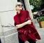 เสื้อผ้าเกาหลี พร้อมส่งเสื้อคลุมไหมพรมแบรนด์คอเต่าBurberry thumbnail 6