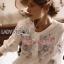 เสื้อผ้าเกาหลี พร้อมส่งเสื้อผ้าคอตตอนปักลายดอกกุหลาบสไตล์วินเทจ thumbnail 4