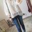 เสื้อผ้าเกาหลี พร้อมส่งเสื้อผ้าลูกไม้สีขาวงาช้างสไตล์ลำลอง ต thumbnail 3