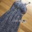 ชุดเดรสเกาหลี พร้อมส่งเดรสผ้าลูกไม้สีฟ้าตกแต่งเลื่อมสีเงินเหลือบ thumbnail 12