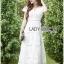 Hana Classic Feminine Lace Maxi Dress in White thumbnail 2