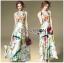 ชุดเดรสเกาหลี พร้อมส่งเดรสยาวผ้าซาตินพิมพ์และปักลายดอกไม้ thumbnail 1