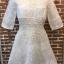 ชุดเดรสเกาหลี พร้อมส่งEmbroidered White Pearl Dress thumbnail 8
