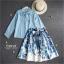 เสื้อผ้าเกาหลี เซ็ท 2 ชิ้นสุภาพ เสื้อ+กระโปรงเสื้อผ้าจอร์เจียร์ใส่สบายสุดๆ thumbnail 7