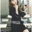 Tanna Crystal Embellished Draped Black Dress thumbnail 4