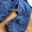 เสื้อผ้าเกาหลี พร้อมส่งแจ๊กเก็ตผ้าเดนิมปักลายแมว thumbnail 13