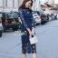 ชุดเดรสเกาหลี พร้อมส่งเดรสทรงยาวเลยเข่า งานผ้าลูกไม้ premium thumbnail 2