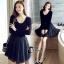 ชุดเดรสเกาหลี พร้อมส่งCendrillon Pricess Black Dress thumbnail 5