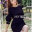 Tanna Crystal Embellished Draped Black Dress thumbnail 1