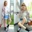 เสื้อผ้าเกาหลี พร้อมส่งบอมเบอร์แจ็กเก็ตผ้าคอตตอนปักลายดอกไม้สไตล์สปอร์ต thumbnail 2