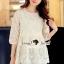 เสื้อผ้าเกาหลี พร้อมส่งเสื้อทรงสวยหวานสไตล์สาวเกาหลี thumbnail 7