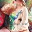 Peafowl Blue Emerald Bear Dazzling Silk Wool Blouse thumbnail 2