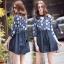 ชุดเดรสเกาหลีพร้อมส่ง Mira Lace Denim Cuite Dress thumbnail 5