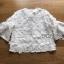 เสื้อผ้าเกาหลี พร้อมส่งเสื้อผ้าคอตตอนทับด้วยผ้าตาข่ายปักดอกไม้สีขาว thumbnail 9