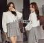 เสื้อผ้าเกาหลี พร้อมส่งเสื้อผ้าลูกไม้สีขาวสไตล์วินเทจสุดหวาน thumbnail 9