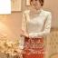 เสื้อผ้าเกาหลี พร้อมส่ง เสื้อลูกไม้สีขาว ดีเทลแขนยาว ผ้าเกรดดีเนื้อนิ่มมาก thumbnail 6