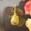 พร้อมส่ง ต่างหูมงคลถุงทองประคองทรัพย์ ในถุงมีพลอย 9 สีอยู่ข้างใน thumbnail 3