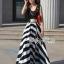 Arianna Glam Chic Swirl Striped Maxi Dress thumbnail 4