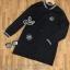 เสื้อผ้าเกาหลี พร้อมส่งเสื้อแจ็คเก็ตเบสบอลตัวยาวเนื้อผ้านิ่มใส่สบาย thumbnail 14