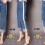 เสื้อผ้าสเกาหลีพร้อมส่ง กางเกงยีนส์ทรงกระบอก ผ้ายีนส์ฮ่องกง thumbnail 7