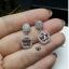 พร้อมส่ง Chanel Earring งานเกาหลี เพชร CZ thumbnail 3