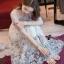 ชุดเดรสเกาหลี พร้อมส่งlong dress ผ้ามุ้งแขน 5 ส่วน thumbnail 2