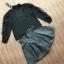 เสื้อผ้าแฟชั่นพร้อมส่ง เซ็ตเสื่อแขนยาวสีดำใส่คู่กับกระโปรงเอวสูงทรงบาน thumbnail 4