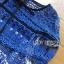 ชุดเดรสเกาหลี พร้อมส่งเดรสผ้าลูกไม้สีฟ้าตกแต่งโบสไตล์ Self-Portrait thumbnail 14