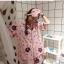 เสื้อผ้าเกาหลีพร้อมส่งชุดนอนลายการ์ตูน เซตชุดนอน 3 ชิ้น thumbnail 3