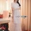 ชุดเดรสเกาหลี พร้อมส่งเดรสยาวผ้าลูกไม้สีขาวตกแต่งระบายสไตล์โรแมนติก thumbnail 9