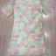 ชุดเดรสเกาหลี พร้อมส่งMini dress แขนสามส่วน ด้านนอกเป็นผ้าซีทรูปักลายดอกไม้ thumbnail 7