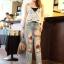 เสื้อผ้าแฟชั่นพร้อมส่ง กางเกงยีนส์ขายาว 9 ส่วน แนวเซอร์ๆ สียีนส์ฟอก thumbnail 1