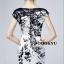 ชุดเดรสเกาหลี พร้อมส่งชุดเดรสแขนกุดผ้าไหมซาตินพิมพ์ลายดอก thumbnail 3