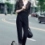 เสื้อผ้าเกาหลี พร้อมส่ง Luxury Black Lace Jumpsuite - Jumpsuite thumbnail 3