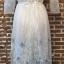 ชุดเดรสเกาหลี พร้อมส่งlong dress ผ้ามุ้งแขน 5 ส่วน thumbnail 13