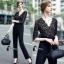 เสื้อผ้าเกาหลี พร้อมส่ง Luxury Black Lace Jumpsuite - Jumpsuite thumbnail 11