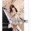 ชุดเดรสเกาหลีพร้อมส่ง เดรสผ้าเครปสีขาวครีมและกระโปรงผ้าลูกไม้สีพาสเทล thumbnail 4