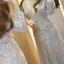 ชุดเดรสเกาหลี พร้อมส่งlong dress คอวี แขนยาวปักเลื่อมทั้งตัว thumbnail 7