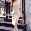 Waisty Concave Nood Color Dress thumbnail 1