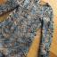 ชุดเดรสเกาหลี พร้อมส่งเดรสผ้าลูกไม้สีฟ้าตกแต่งชายระบาย thumbnail 8